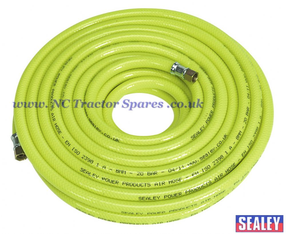 "Air Hose High Visibility 15mtr x 8mm with 1/4""BSP Unions"